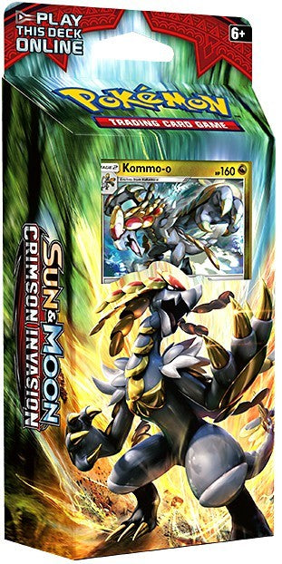 Pokemon Sun & Moon Crimson Invasion Clanging Thunder Theme Deck (60 Cards) Kommo-o