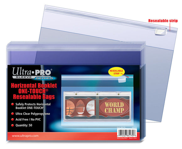 Ultra Pro Horizontal Booklet One-Touch Resealable Bags