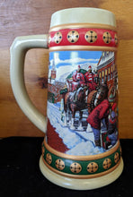 Load image into Gallery viewer, 1993 BUDWEISER HOLIDAY STEIN CLYDESDALES - Hometown Holidays