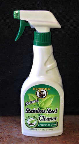 HOWARDS NATURAL STAINLESS STEEL CLEANER / FRAGRANCE FREE