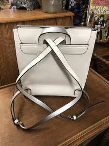 Faux White Leather Backpack Purse, Zara Trapalu