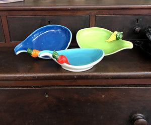 Set of 3 Colorful Vegetable Dishes - Marked Italy