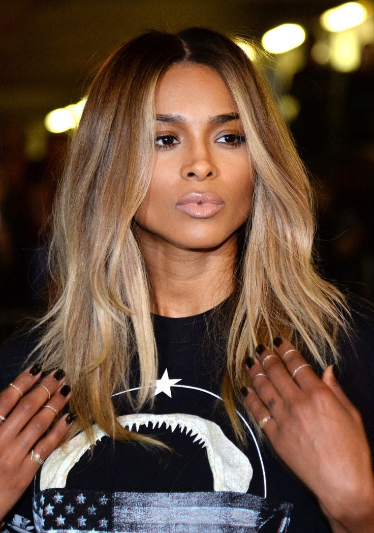 Ciara Inspiredbrazilian Remy Hair Extensions Straight Balayage Ombr