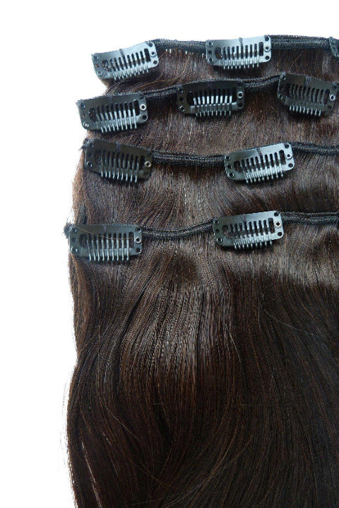 Indian Virgin Remy Human Hair Clip In Hair Extensions