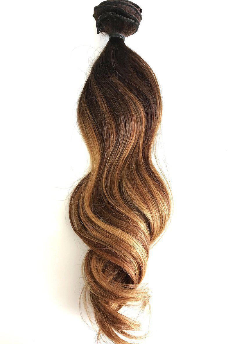 Tiger Eye Balayage Human Hair Extensions