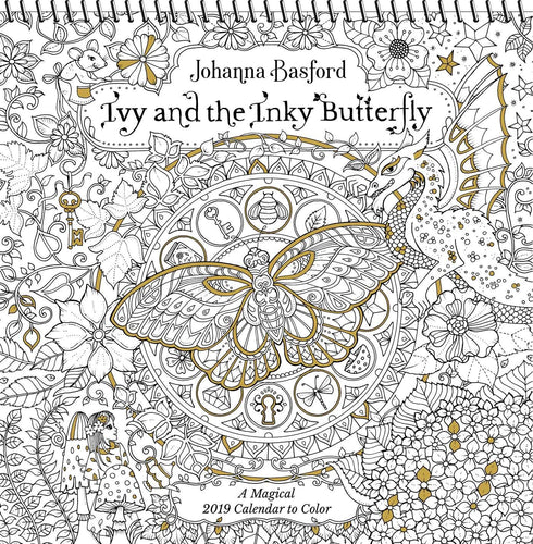 Ivy & the Inky Butterfly 2019 Coloring Wall Calendar
