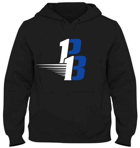 Black Hoodie (White/Royal)
