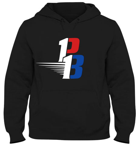 Black Hoodie (Red/White/Blue)