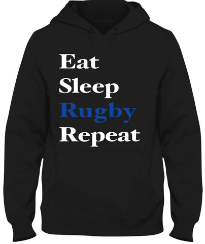 Black Hoodie (Eat Sleep Rugby Repeat)
