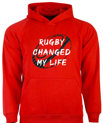 Red Rugby Changed My Life Hoodie