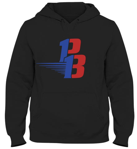Black Hoodie (Royal/Red)