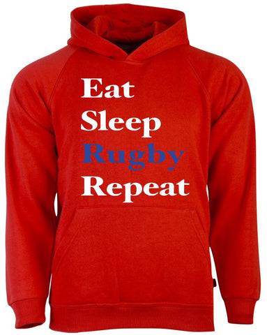 Red Hoodie (Eat Sleep Rugby Repeat)