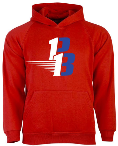 Red PB Hoodie (White/Royal)