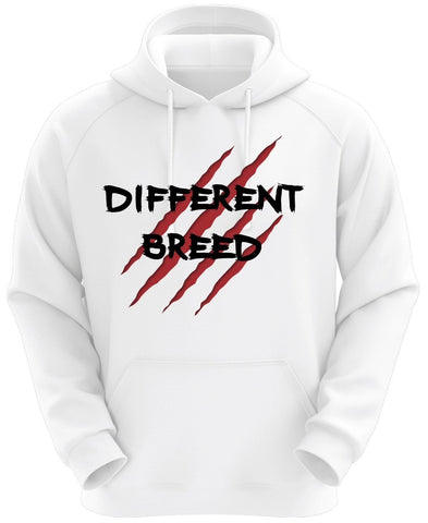 White Different Breed Hoodie (Red/Black)