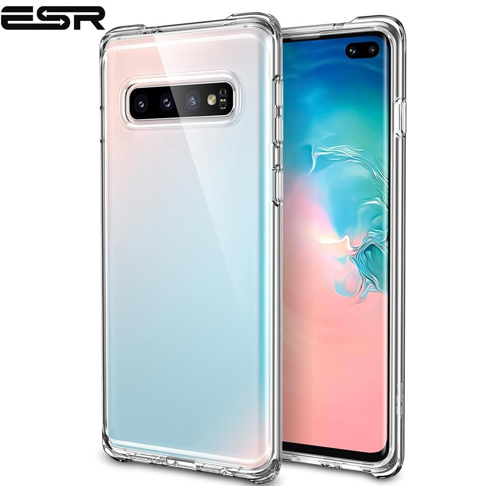 size 40 be314 e0bcf ESR Soft TPU Case for Samsung Galaxy S10 S10 Plus Cover Ultra Thin  Transparent Crystal Bumper Cover For Samsung Galaxy S10 Plus