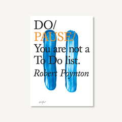 Do Pause by Robert Poynton book cover on white background