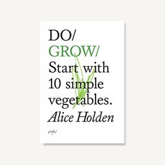 Do Grow book cover by Alice Holden on white background