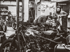 Mechanics working at Blitz Motorcycles studio