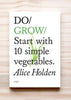 Front cover of Do Grow: Start with 10 simple vegetables, by Alice Holden