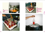 Photo guide to preserving by bottling. Boiling fruit, filling jars and placing in hot-water bath.