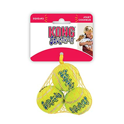 Kong 3 Pack X-Small Squeakair Balls (Shelter Dog)
