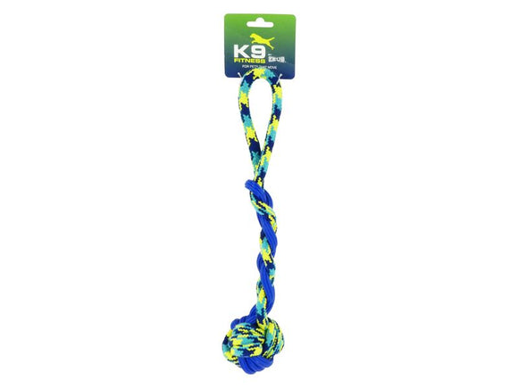 K9 FITNESS ZEUS ROPE & TPR BALL TUG 16