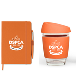 DSPCA Reusable Glass Cup & DSPCA Notebook