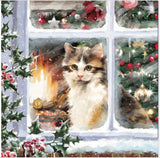 8 Pack Cat Christmas Cards