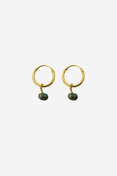 Turquoise Gemstone Earrings Goldplated