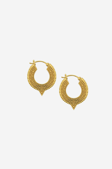 Ethnic Triangle Earrings Goldplated