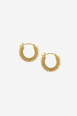 Ethnic Earrings Goldplated - Treasure Hunts - gold hoops