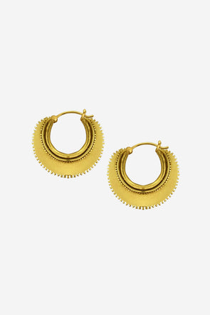 Half oon Earrings Goldplated