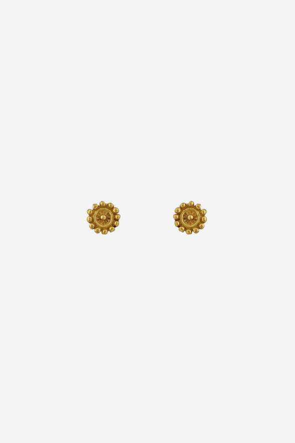 Small Flower Stud Earrings Goldplated