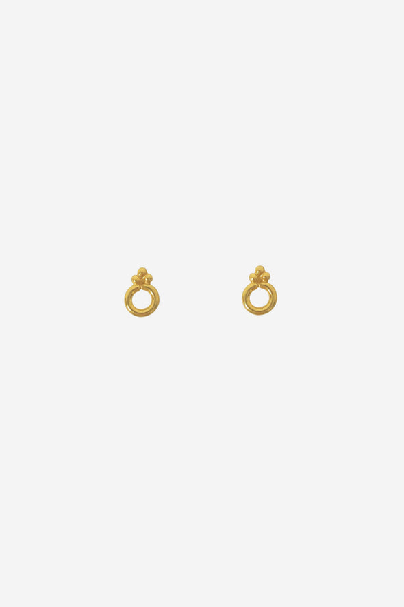 Circle Dots Stud Earrings Goldplated