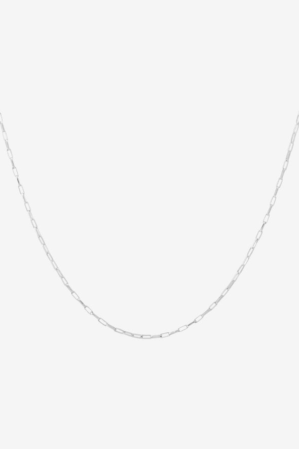 Lifeline Plain Long Necklace Silver - Anna + Nina - 53 cm long 925 Sterling silver necklace