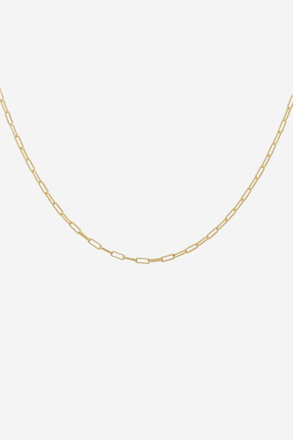 Lifeline Plain Short Necklace Goldplated