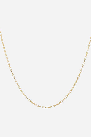 Lifeline Plain Long Necklace Goldplated