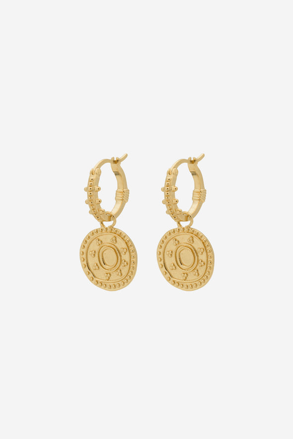 Cleopatra Ring Earrings Goldplated