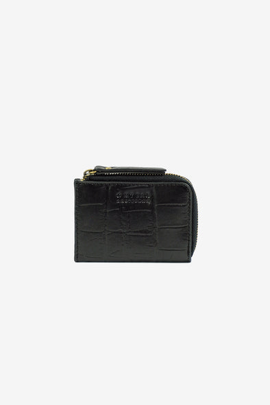 Coco Coin Purse Black Croco Classic Leather - O My Bag