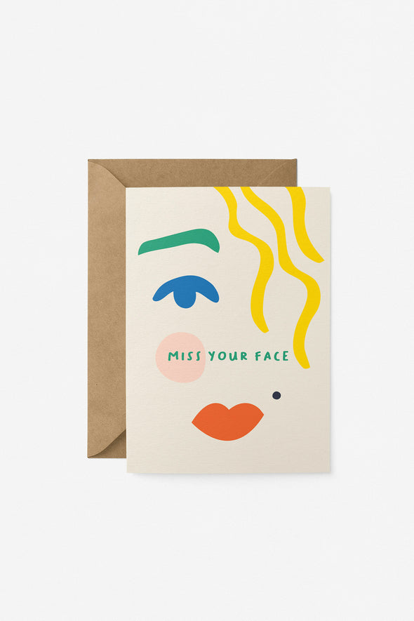 Miss Your Face Card Graphic Factory
