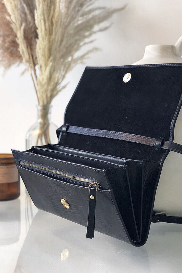 Kirsty Clutch Black Stromboli Leather
