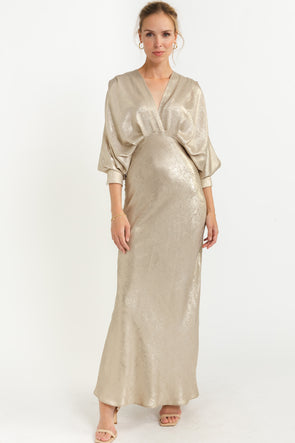 Kasya Silk Dress Cinnamon