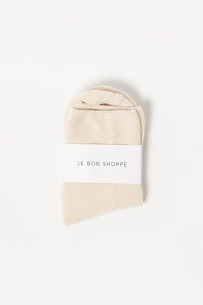 Le Bon Shoppe Cloud Socks Ecru