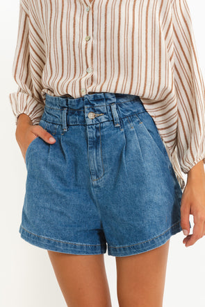 Darling Satin Skirt Gold