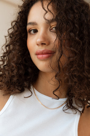 My Perfect Tee Della Robia Blue - Selected Femme - striped t shirt tee regular fit round white trim