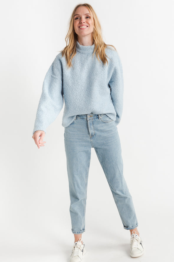 Frida Mom Jeans Aruba Blue