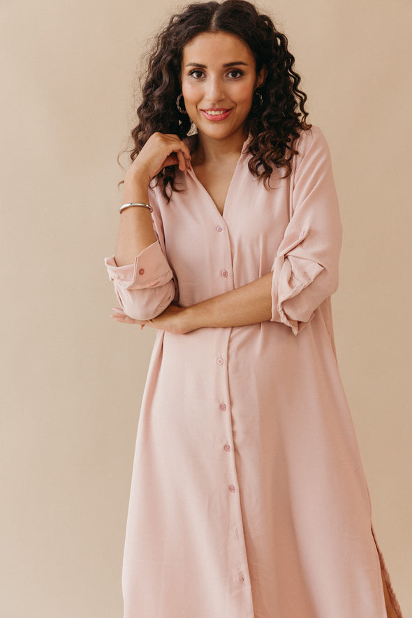 Anna V-Neck Knit Quicksand - Samsoe Samsoe - Relaxed fitting v-neck jumper with rib stitch structure