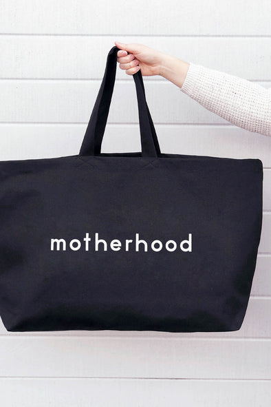 Motherhood Really Big Canvas Bag Black
