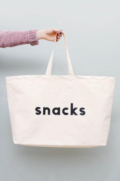 Snacks Really Big Canvas Bag