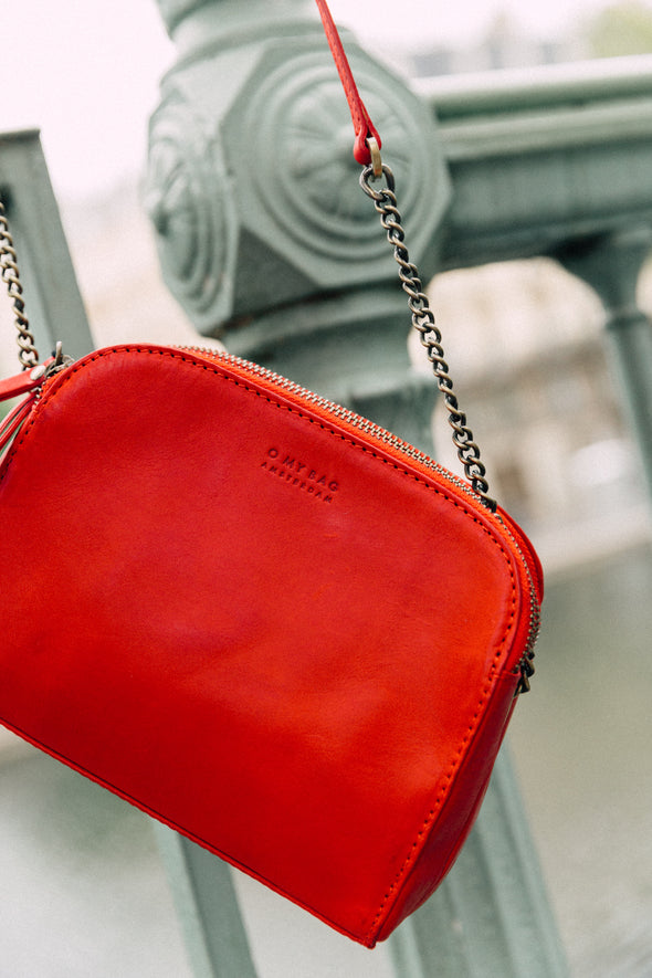 Emily Red Classic Leather